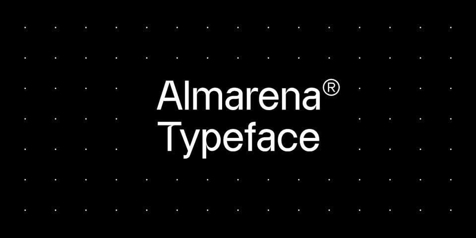 Almarena font page