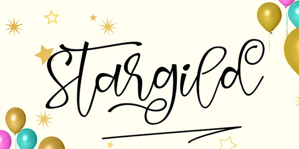 Stargild font page