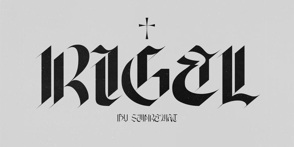 Rigel font page