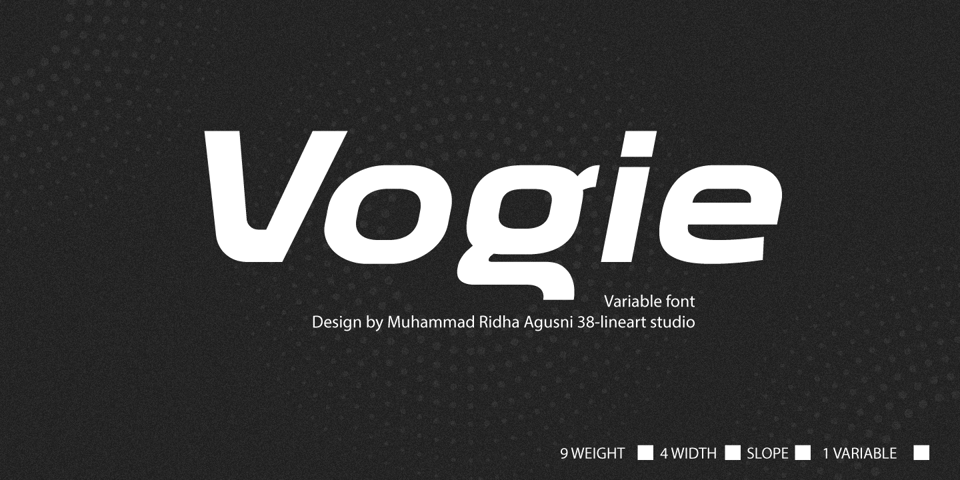 Vogie font page