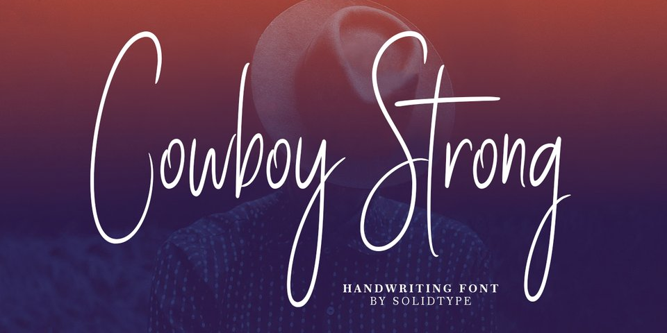 Cowboy Strong font page