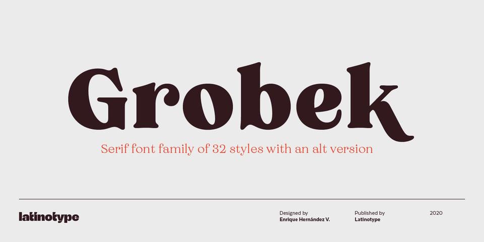 Grobek font page