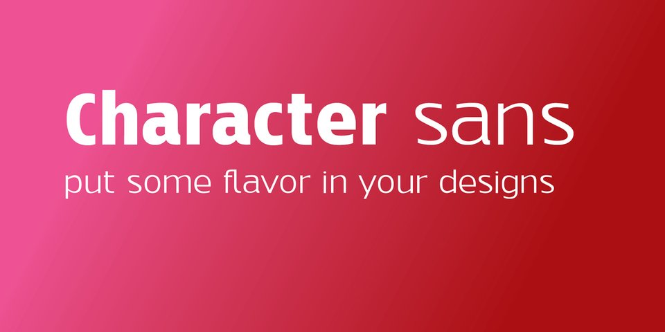Character Sans font page