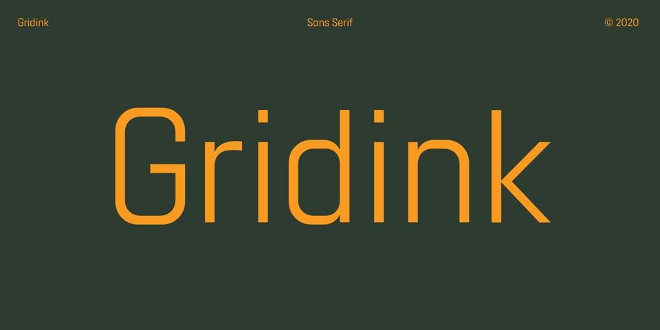 Gridink font page