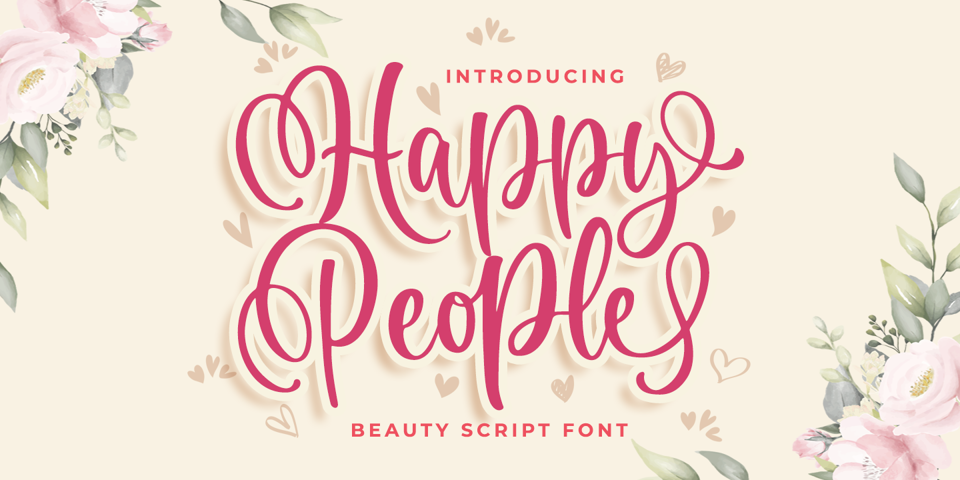 Happy People font page