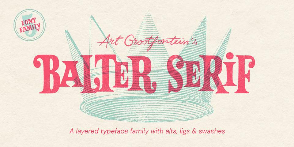 Balter Serif font page