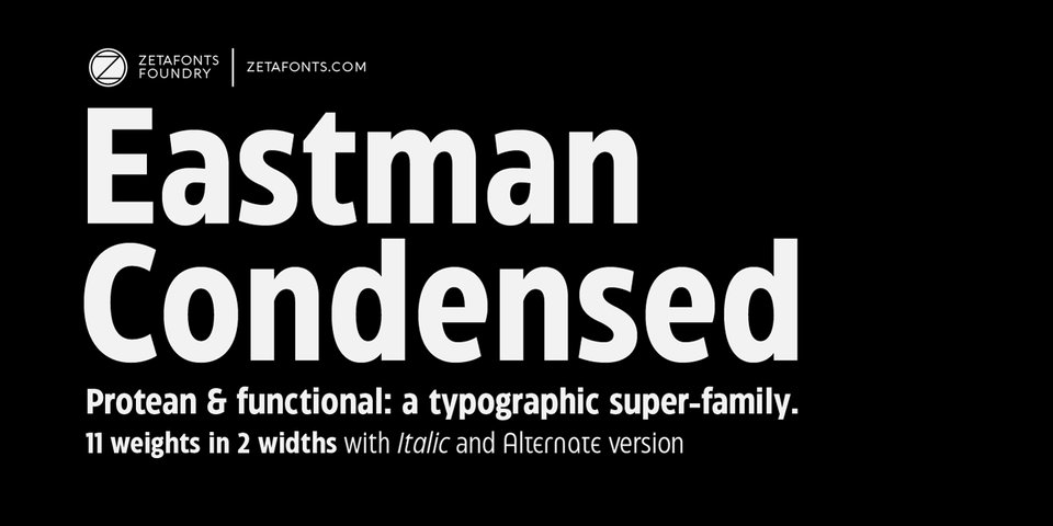 Eastman Condensed font page