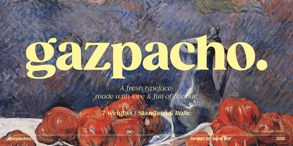 Gazpacho font page