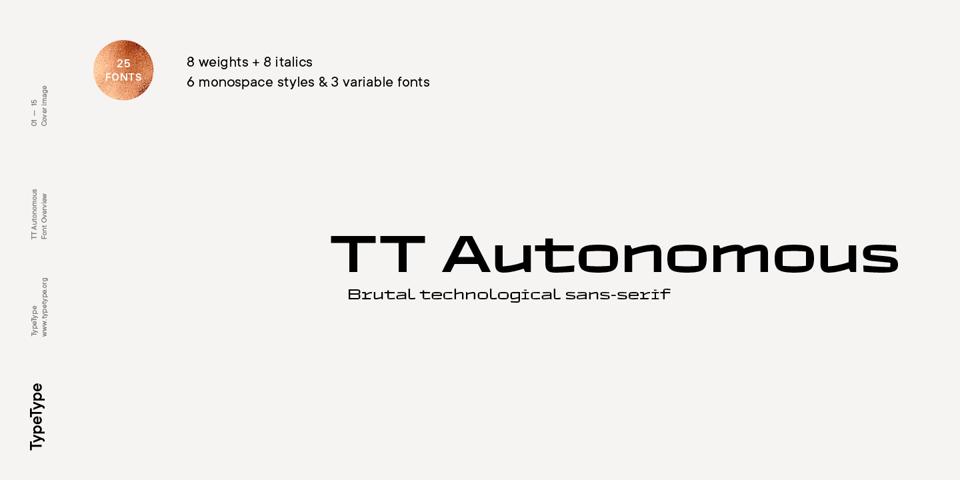 TT Autonomous font page