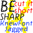 Knew Font Jagged
