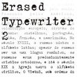 Erased Typewriter 2