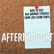Afterthought JNL