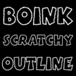 Boink Scratchy Outline