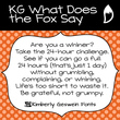 KG What Does The Fox Say