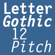 Letter Gothic 12 Pitch