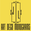 Art Deco Monograms JNL