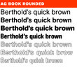 AG Book Rounded® BQ