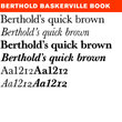 Berthold Baskerville Book® BE