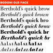 Berthold Bodoni Old Face® BE
