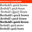 Berthold Garamond® BE