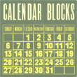 Calendar Blocks JNL