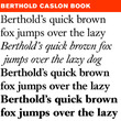 Berthold Caslon® Book BE