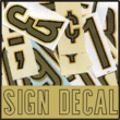 Sign Decal JNL