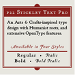 P22 Stickley Text Pro