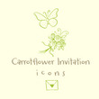 Carrotflower Invitation Icons™