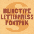 BlincType Letterpress Fontpak