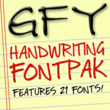 GFY Handwriting Fontpak