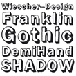 Franklin Gothic Hand Demi Shadow