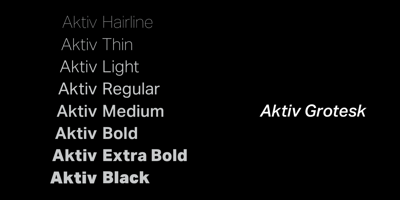 Aktiv Grotesk - Webfont & Desktop font « MyFonts