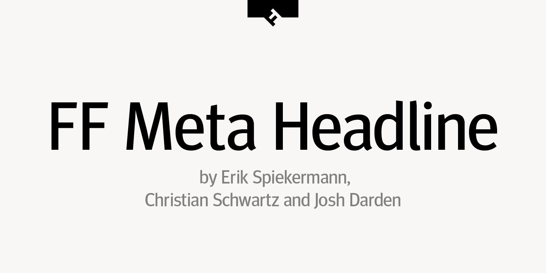 Meta Bold Roman font