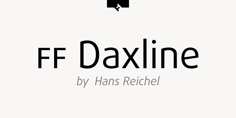 daxline pro regular font