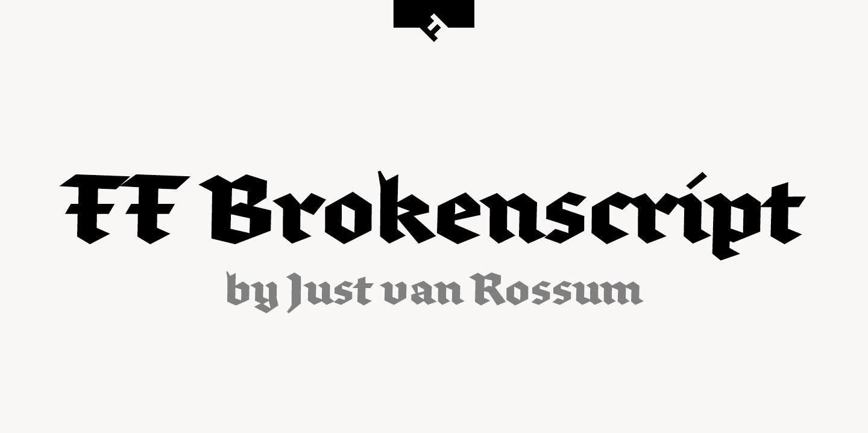 ff brokenscript font