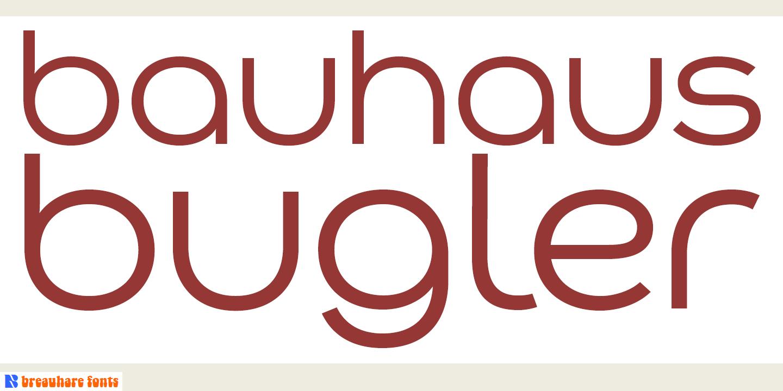 Bauhaus Bugler Font elinde olan?