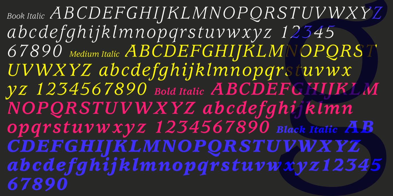 itc usherwood medium font