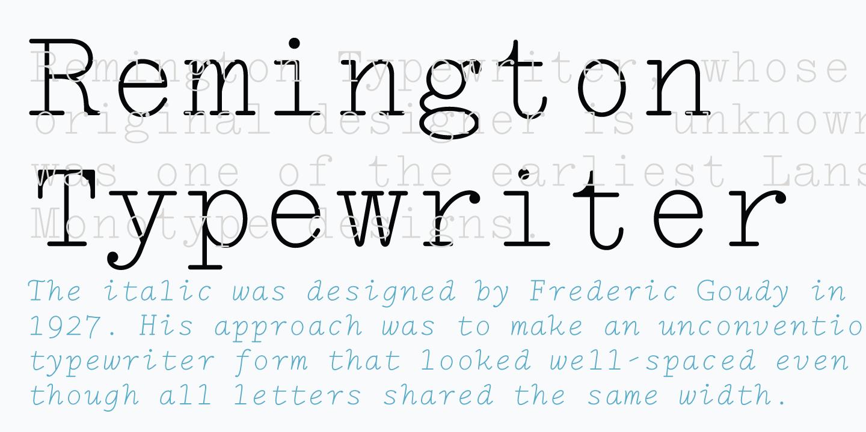 typewriting machine font