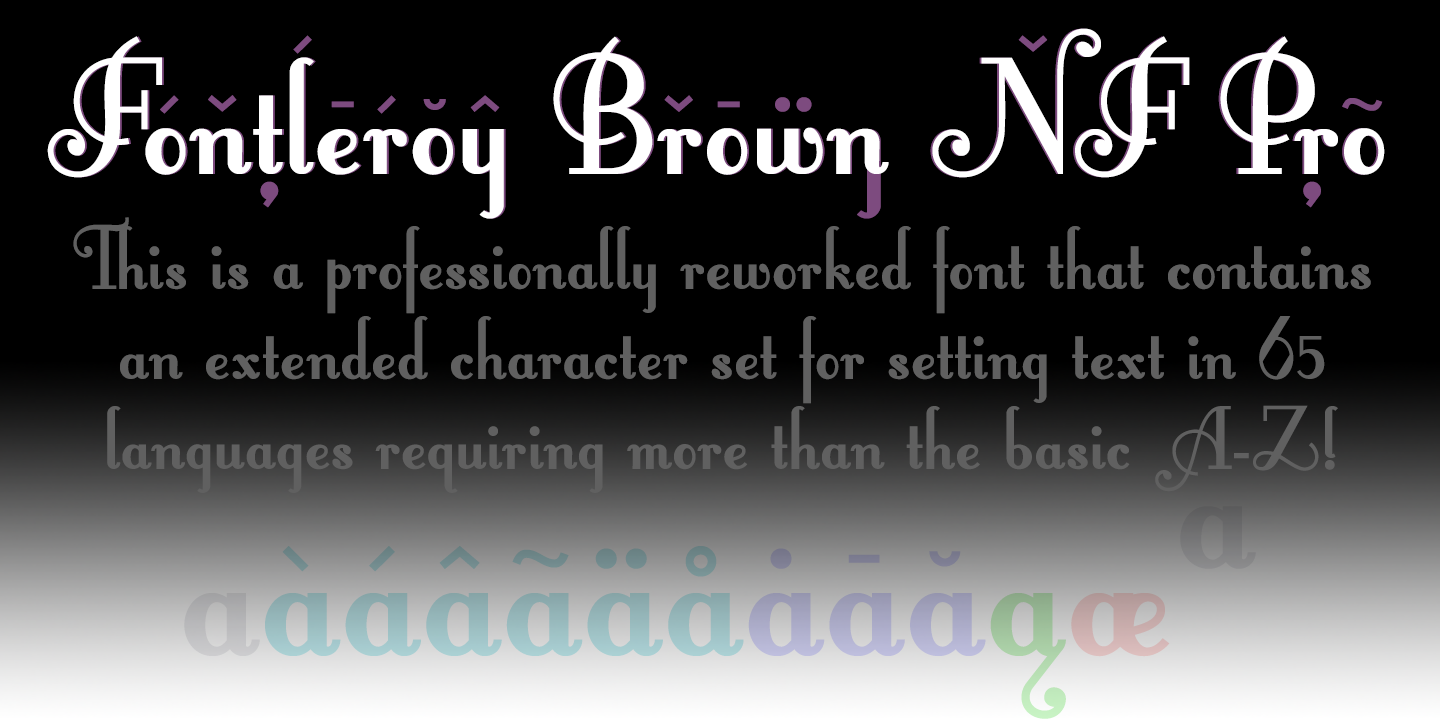 fontleroy brown nf pro font