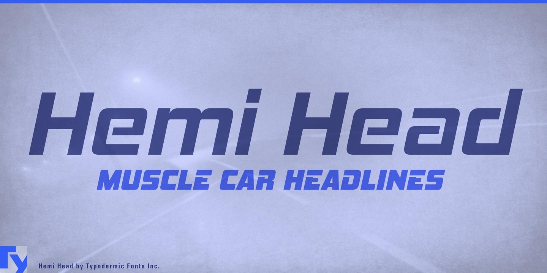 Hemi Head Webfont Desktop Font Myfonts