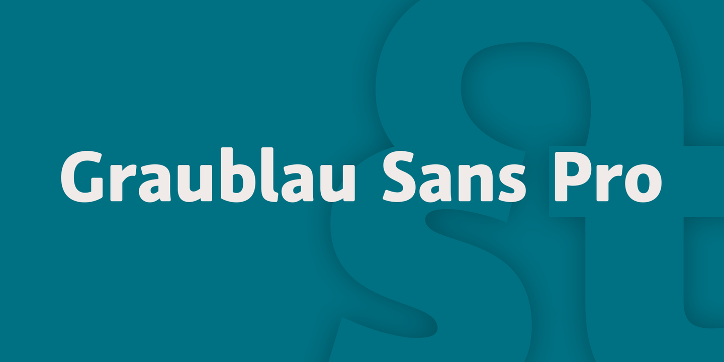 About This Font Family. The Design Of Graublau ...