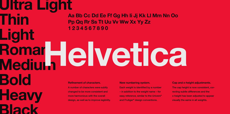 police word helvetica