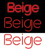 Beige PR firm logo and neon signs by Beige