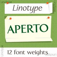 Linotype Aperto Poster