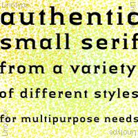Linotype Authentic Small Serif