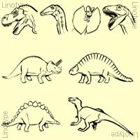 Linotype Dinosaures Poster