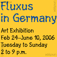 Linotype Fluxus Poster