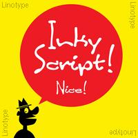 Linotype Inky Script Poster