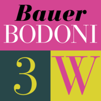 Bauer Bodoni Poster